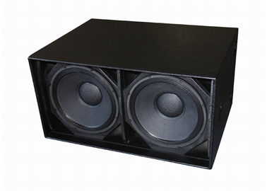 Dual 18 Inch LF Drivers Concert Sound Equipment , Subwoofer Speaker