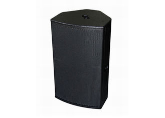 Professional Black Live Sound Speakers Plywood Cabinet For Living Event